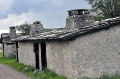 Stone roof. Vitvär, Gotland, Sweden.