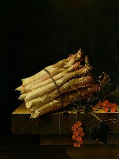 Adriaen Coorte, 'Still Life with Asparagus and Redcurrants' 17th century