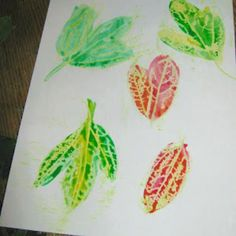 Water Color and Crayon Resist Leaves (All Things Beautiful)