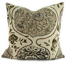Katsugi Ikat Throw Pillow Cover 20x20 Schumacher by ThePillowSpot