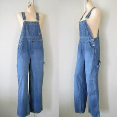 Women Overalls Denim Overalls Women Dungarees by TheVilleVintage, $48.99