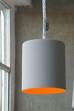 Pendente de resina BIN CEMENTO - In-es.artdesign: Pendente de cimento