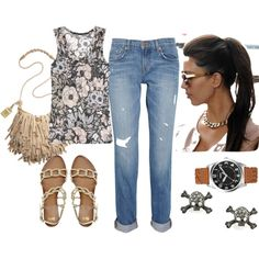 TGIF, created by junethompson on Polyvore...I'd wear everything BUT the skull earrings...haha