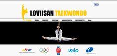 Loviisan Taekwondo -seuran verkkosivusto, 2015. Visuaalinen toteutus vapaaehtoistyönä ammattitaidon ylläpitämiseksi, Natasha Varis. – http://www.loviisantaekwondo.fi/