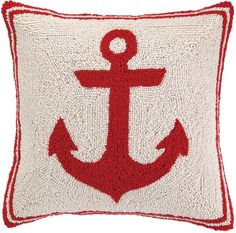 Anchor - Red Hook Pillow: Beach House Decor, Coastal Decor, Nautical Decor, Coastal Living Boutique, Tropical Decor