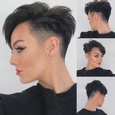 Short Red Hair, Super Short Hair, Short Hair With Layers, Layered Hair, Short Hair Cuts For Women Pixie, Purple Pixie Cut, Red Pixie Cuts, Long Pixie, Undercut Hairstyles Women