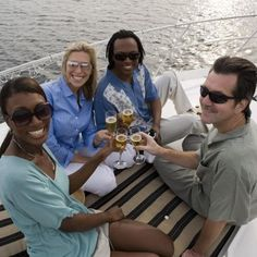 A boat christening doesn't have to be a formal occasion.