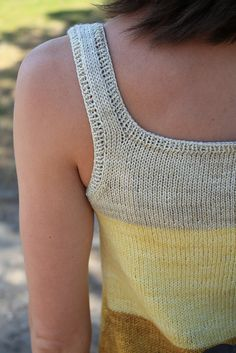 Ravelry: Palmer pattern by Alicia Plummer Summer Knitting, Knitting Yarn, Knitting Sweaters, Knitting Designs, Knitting Patterns, Knitted Tank Top, Knit Fashion, Crochet Clothes, Knit Crochet