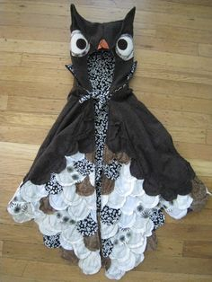 Ugle kostume - større vinger