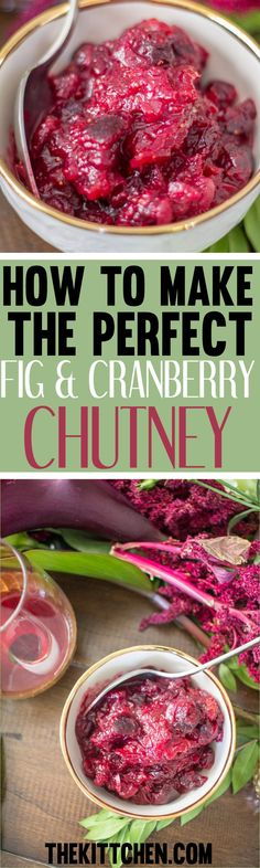 This Fig and Cranberry Chutney is so much better and easier to make than cranberry sauce. I love that this modern twist on a Thanksgiving classic. Cranberry sauce in a mold is starting to feel Fig Recipes, Other Recipes, Healthy Recipes, Best Thanksgiving Recipes, Thanksgiving Feast, Christmas Recipes, Holiday Recipes, Fresh Cranberry Recipes