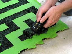 Create your own Maze Rug!  You can create animal prints using the same idea!