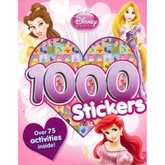 Disney Princess 1000 Sticker Book, Disney Activity & Sticker Books by Parragon Books | Sticker Books at The Works
