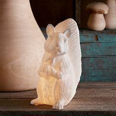 Porcelain Squirrel Lamp