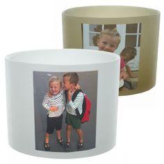 Photophore personnalisé avec les photos de ses petits enfants.