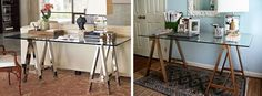 Create a Luxe Sawhorse Desk with Painted IKEA Parts