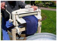 De wasmachine met wringer
