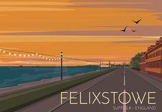 Felixstowe, Suffolk, England Travel Poster