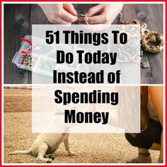 Do you find yourself spending money on things, just as a way to pass the time? Here are 51 Things to Do Today Instead of Spending Money