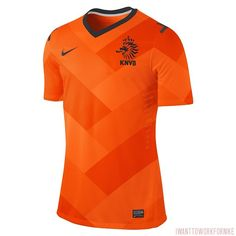 #Dutch #nationalkit proposal. A #geometricpattern with 3 different #orange tones for the #firstjersey with #nikefootball