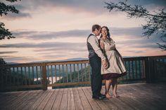 Amanda Summerlin shot a beautiful wedding at Sugar Hollow Retreat #wedding #sugar #hollow #retreat #mountain #outdoor #sunset #short #dress #bride #groom #TN #Tennessee #butler