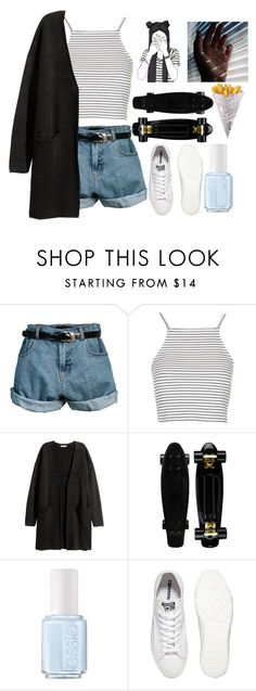 """""""Silence"""" by cleobluesky ❤ liked on Polyvore featuring Retrò, Topshop, H&M, Essie, Converse, white, contestentry and whitesneakers"""