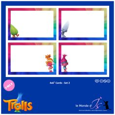 Trolls – Page 2 – le Monde d'Is Mini Albums, Writing Activities For Preschoolers, Trolls, Troll Party, Paw Patrol Birthday, Cute Stickers, Dreamworks, Thank You Cards, Party Supplies
