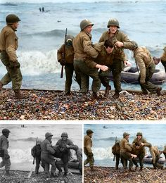 Medics From The Us 5th And 6th Engineer Special Brigade - Artist Colorizes Old Black & White Photos Making History Come To Life