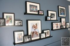 13. #Staggered Ledges - 33 #Gallery Walls You Need in Your Home ... → DIY #Oddly