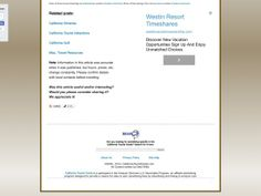 California Timeshare Tour Promotions — Vacation Moneysaver!