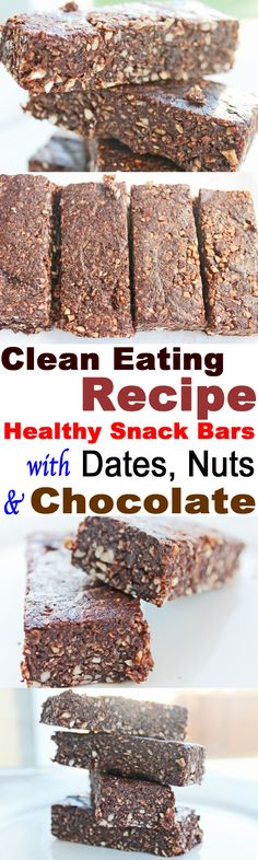 Healthy Snack Bars | Clean Eating Diet Plan Meal Plan and Recipes