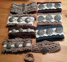 Zarkas Welt - Nähen und mehr: Anleitung für gehäkelte Armbänder mit Spitze und Vintage Knöpfen