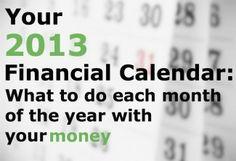 Your Ultimate 2013 Financial Calendar