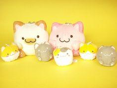 Kawaii Cute Maruneko Club Small Keychain Plush & Mascot