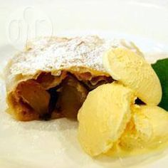 I love apple strudel and this is an easy recipe so I can make it for myself. Apples are lightly flavoured with cinnamon then wrapped in puff pastry instead of the traditional filo. Irish Recipes, Home Recipes, Quick Recipes, Apple Strudle, Afternoon Snacks, Allrecipes, Tray Bakes, No Cook Meals, Food To Make