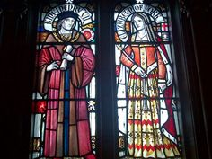 Stained Glass Window's at Cardiff Castle of Henry Tudor