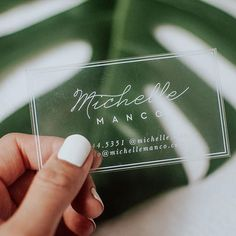 Our Outlined Script Clear Business Cards are designed to modern and minimalistic. Cute Business Cards, Clear Business Cards, Beauty Business Cards, Minimalist Business Cards, Professional Business Cards, Creative Business Cards, Unique Business Ideas, Plastic Business Cards, Foil Business Cards