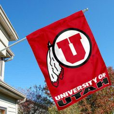 University of Utah Utes House Flag by College Flags and Banners Co.. $23.95. Viewable and Readable Correctly on Both Sides. 30 (w) x 40 (h) Inches in Size with Top Pole Sleeve. Officially Licensed by University of Utah. Single-Ply Polyester Material with 2-Ply Double Sided Bottom Panel. School Logos are Screen Printed into Material. University of Utah Utes House Flag is 30x40 inches in size, is made of single-ply polyester with double-sided bottom school panel, has...
