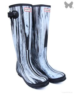 New Hunter Original Nightfall Wellington Boots – White Black Lovecké Boty 224087be2a