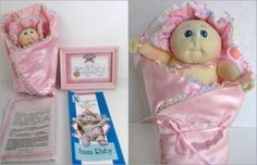 """Your very own miniature #XavierRoberts signed soft sculpture sprout Cabbage Patch Kid. Anna Ruby was first """"sprout"""" size Collector's Club offering, very rare. Original COA, #birthcertificate. www.Connectibles.net"""