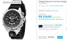 Relógio Masculino Technos Anadigi Casual T20571/8P << R$ 21900 em 8 vezes >>