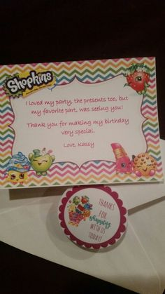 Thank You Note Kins Cookies Paint Party