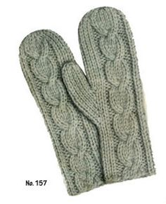 Ladies' Jiffy Mittens (free pattern from Free Vintage Knitting)