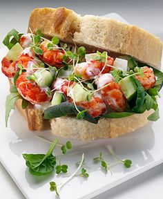 Pret a Manger - Crayfish, rocket and avocado sandwich