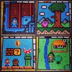 Nintendo scenes hama perler beads by operledittemarie