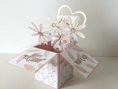 Card in a Box mit Gänseblümchen-Bouquet mit Video-Tutorial – stempelfantasie