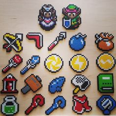 LoZ - Link to the Past items perler beads by dazer24