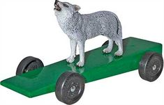 love this idea - Wolf or Bear for a Pinewood Derby Car