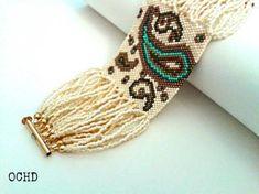 off loom beading Bead Loom Bracelets, Woven Bracelets, Beaded Jewelry Designs, Seed Bead Jewelry, Bead Loom Patterns, Beading Patterns, Beading Ideas, Jewelry Patterns, Bead Embroidery Jewelry
