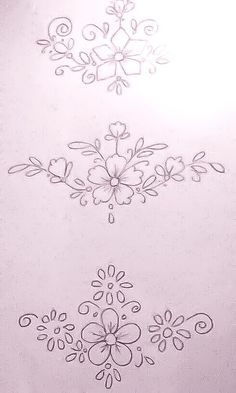 Border Embroidery Designs, Basic Embroidery Stitches, Hand Embroidery Videos, Embroidery On Clothes, Embroidery Flowers Pattern, Embroidery Patterns Free, Flower Pattern Drawing, Flower Art Drawing, Flower Drawing Tutorials