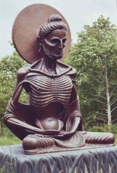 Siddartha, the future Buddha, practicing austerities    The FASTNG BUFDDHA @ Victoria's Way